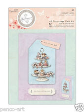 Docrafts Papermania A5 Die Cut Decoupage Kit Tarjeta Bellisima Cupcakes Cup Cakes