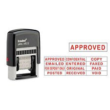 Trodat Self-Inking Stamps 12-Message Self-Inking 1 1/4 x 3/8 Red E4822