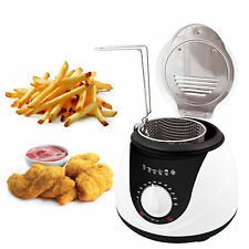 1L Electric Mini Deep Fat Fish Chip Fryer Non Stick Pan & Safe Basket 900 watt