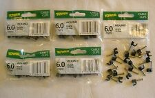 5 Packs of 20x Round Balck 6.0mm Cable Clips = 100 clips - Black Flex Clips 6mm