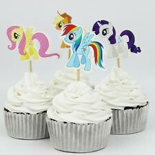 24pcs My Pony  Cake Cupcake Topper kids birthday Theme party Decoration Standup