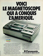 PUBLICITE ADVERTISING 045  1979  PANASONIC  magnétoscope VHS