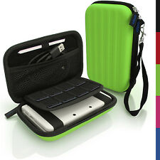 Green EVA Hard Carry Case Cover for New Nintendo 3DS XL 2015 Sleeve Bag Pouch +