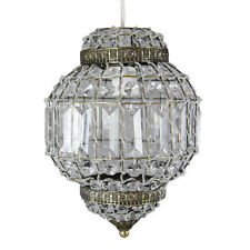 EXOTIC DAZZLING MOROCCAN BEADS AND CRYSTALS PENDANT LIGHT SHADE UNIQUE STUNNING