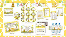 SIMBA Lion King Baby Shower Party Printables Deluxe Package - Print your own