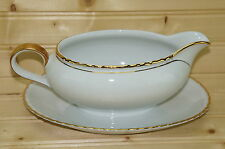"""Winterling Marktleuthen Bavaria Gravy Boat with Attached Underplate, 8 1/2"""" x 6"""""""