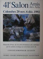Affiche LE GUEN 1992 Exposition Salon Amis des Arts