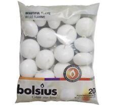20 Bolsius Schwimmkerzen (1 Beutel) 30x45 mm weiß 1. Wahl