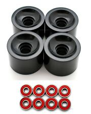 Combo 65mm Longboard Cruier Skateboard wheels ( Black ) + Abec 7 Bearing (S Red)