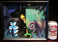RARE Art Of Disney LE Tinkerbell Peter Pan Fairy Figural Shadow Box Display