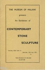 Museum of Malawi : Exhibition Contemporary Stone Sculpture 1971 Njunga Chauluka