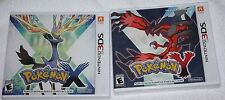 Nintendo 3DS Pokemon X and Y Game Lot Brand New Factory Sealed