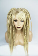 Mix Blonde Synthetic Wig with Full Dread Burning Man Cosplay Costume Hippie Boho