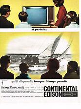 PUBLICITE ADVERTISING  1964   CONTINENTAL EDISON   téléviseur
