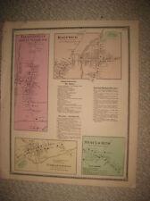 ANTIQUE 1868 GARRATTSVILLE MOUNT VISION HARTWICK OTSEGO COUNTY NEW YORK MAP RARE