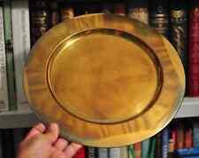Vintage Lars Knudsen Brass Charger Plate Metalia APS Copenhagen Denmark