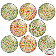 "Color Vision Test 1.25"" Pinback Button BADGE SET Novelty Pins Mini Gift 32 mm"