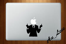 Macbook Air Pro Vinyl Skin Sticker Decal Rude Anonymous Middle Finger Suit M138