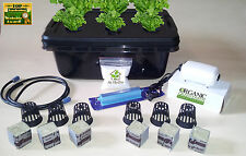 BLACK- 6 PLANT DELUXE GROW BOX COMPLETE SYSTEM W/ Nutrients & pH Test kit
