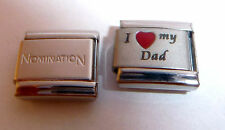 I LOVE MY DAD 9mm Italian Charm + 1x Genuine Nomination Classic Link - RED HEART