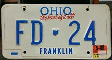 1 Ohio (Franklin) Vanity Plate, FD-24, Firedepartment