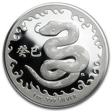 2013 Australia 1 oz Silver Year of the Snake (w/Box & COA)