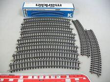 AI197-0,5# 10x Märklin/Marklin H0 2221 Piezas de vía (pista K, curvo), NUEVO+OVP