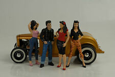 Greasers Set 4 Figuren J Figurines Figur Hot rod 1:18 Figures American Diorama