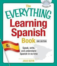 Learning Spanish Book & CD Instruction Lessons Read Write Language Fast Easy