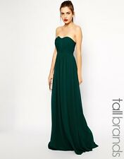 Genuine Jarlo Tall Evening Party Bandeau Long Maxi Dress 6 34 Green