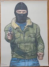 "Ostaggio Taker POLIZIA ""Law Enforcement"" SHOOTING target POSTER richiamato Pritchard TV"