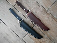 Leather Bushcraft 'Dangler' style sheath for 'woodlore' style knives or Moras