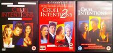 COMPLETE CRUEL INTENTIONS 1,2,3 Reese Witherspoon Teen Romance Drama DVD Set EXC