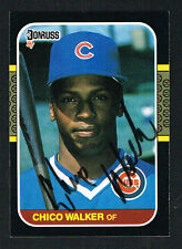 Chico Walker #539 signed autograph auto 1987 Donruss Baseball Trading Card