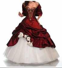 Weiß+Rot Exclusives Abendkleid Brautkleid Ballkleid Brauch Hochzeitskleid