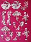 """14 Tattered Lace Die Cut """"Fashion Accessories"""" Embellisments"""