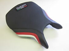 D04L Ducati 749/999 seat cover carbon/Italian flag colours- FRONT