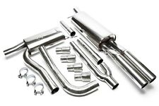 AUDI A4 (B5) 1.6i Exhaust tube Complete Stainless Steel 2x76