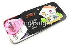 Black Rectangle Metal Pick Holder Case With 24pcs Pearl Celluloid Guitar Picks