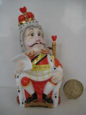 BRONTE PORCELAIN ALICE IN WONDERLAND CANDLE SNUFFER EXTINGUISHER  KING OF HEARTS