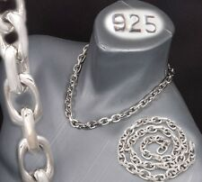 "20"" 160g HUGE HEAVY LINKS BARAKA 925 STERLING SILVER MENS NECKLACE CHAIN PRE"