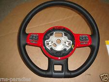 VW BEETLE LENKRAD MULTIFUNKTION  LEDER ROT LACK 5C0419091AG Y3D
