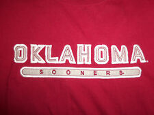 NCAA University Of Oklahoma OU Sooners Red & Gray Graphic Jersey Shirt - M