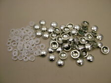Screw covers screw caps two-part chrome, pack of 50, to fit no.6 & no.8 screws