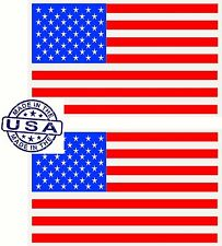 TWO United States USA Country Flag Bumper Window Mirror Sticker Decal America