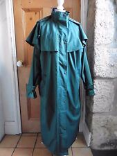 Target Dry Outback Waterproof Green Hood Mac Raincoat Long 14 42 Riding Coat VGC