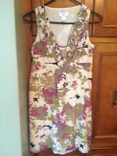 New W/O Tags ANN TAYLOR LOFT Silk Blend Floral Dress Size 0P