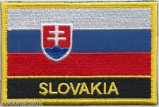 Slovakia Flag Embroidered Patch Badge - Sew or Iron on