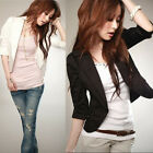 White Black Colors Fashion New Slim OL Ladies Womens Suit Coat Blazer Jacket