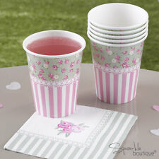 FRILLS & SPILLS PAPER CUPS -Floral Afternoon Tea / Hen Party- FULL RANGE IN SHOP